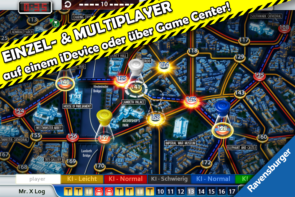 Scotland Yard iPhone, iPad Screenshot